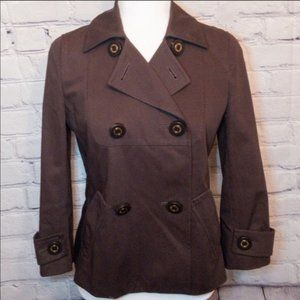 Tory Burch Brown Double-Breasted Peacoat / Jacket